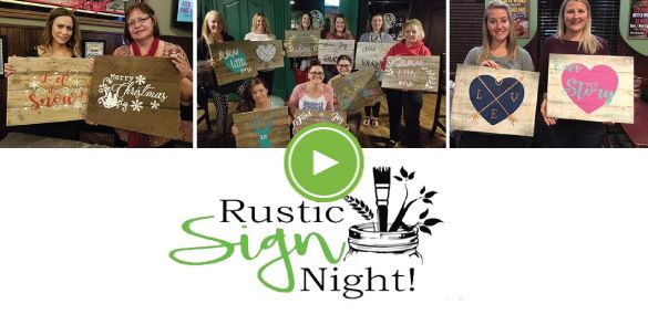 Home - Rustic Sign Night